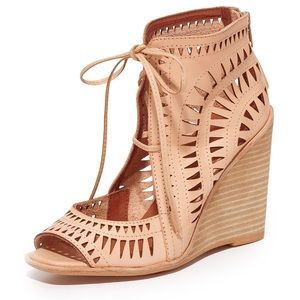 Jeffrey Campbell Rodillo Wedge Sandals Size 6 New